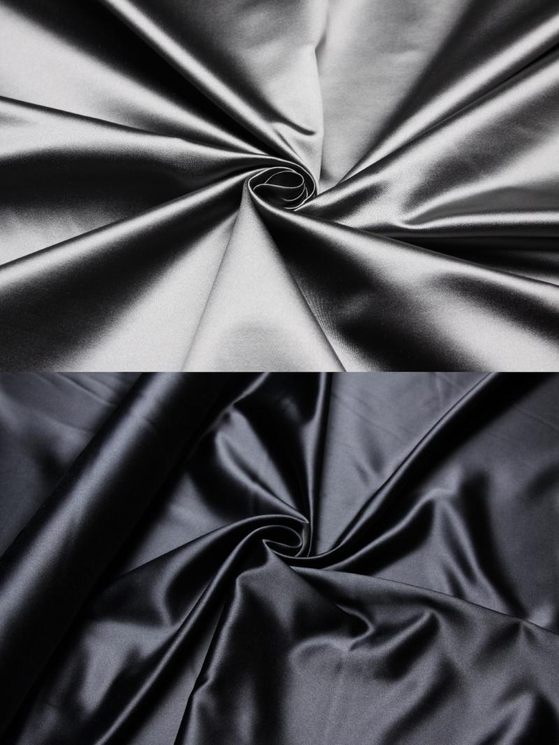 100% Seide Satin Duchesse Natur Silk Bluse Kleid Damenkleid Seidenkleid Stoff