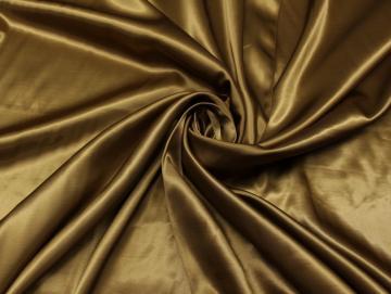 100% Viskose Satin Dekostoff Futterstoff Vorhangstoff Gardinenstoff Gold Seidig