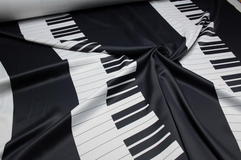 Verdunkelungsstoff Vorhangstoff Blackout Gardinenstoff Blickdicht Deko Klavier